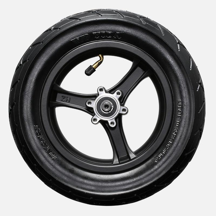 10-inch tubed tire with wheel mounted for Turboant X7 Pro electric scooter.