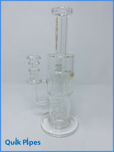 "10"" Bougie Double Chamber Bong Tree/Showerhead Percolators."