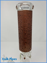 "Load image into Gallery viewer, 12"" Crystal Glass Egyptian Style Beaker."