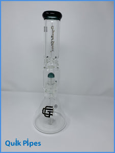 "14"" Crystal Glass One Chamber Beaker."