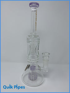 "14"" Crystal Glass Pinched Center Matrix Percolator."