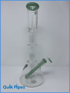 "18"" Chrystal Glass 2 Chamber Tree-Style Percolator."