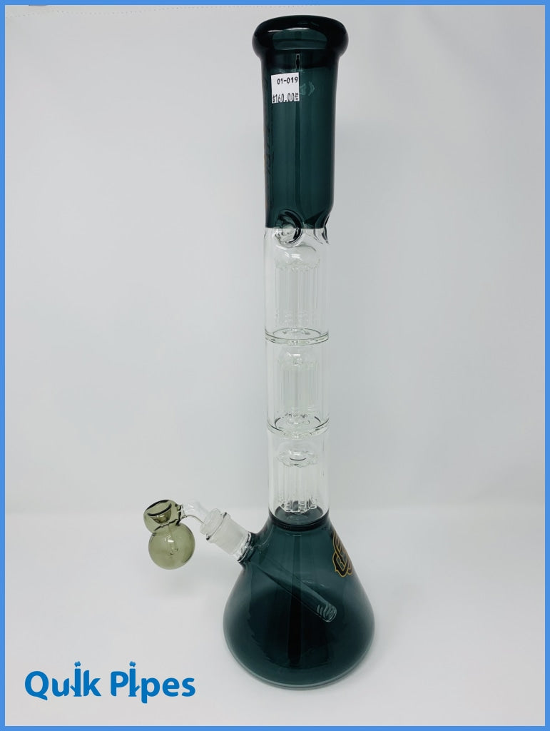 "19.5"" Crystal Glass 3 Chamber Beaker."