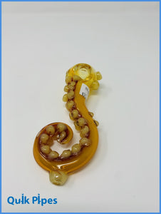 "5.5"" Gold Tentacle Pipe."