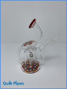 "6"" Crystal Glass Recycler Rig."