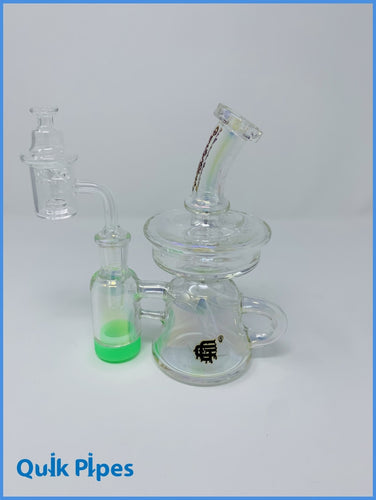 7' Crystal Glass Iridescent Recycler With Reclaimer.