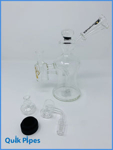 "8"" Rain City Masterpiece Dab Rig With Knob/Reclaimer."