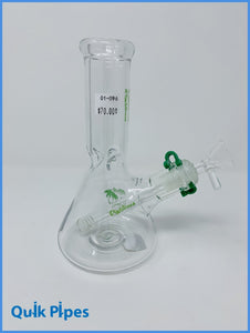 "8"" Righteous Glass Mini Beaker Green."