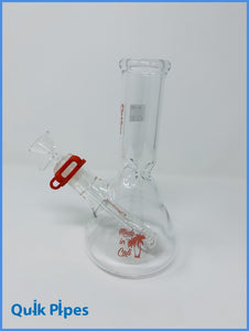 "8"" Righteous Glass Mini Beaker Red."