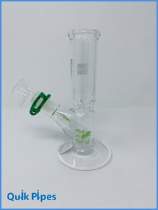 "8"" Righteous Glass Mini Straight Tube Green."