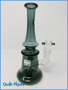 "9"" Bougie Slender Bell-Shaped Bong Green."