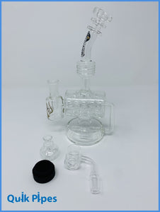 "9"" Rain City Masterpiece Inline Barrel Rig With Reclaimer."