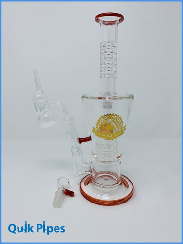Illuminati Glass Double Chamber Dab Rig.
