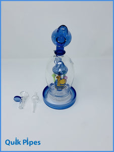 Lookah Glass Dab Rig Model: WPC723 Blue.