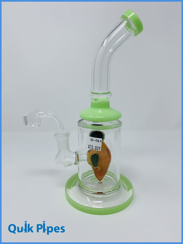 Peach Percolator Dab Rig.