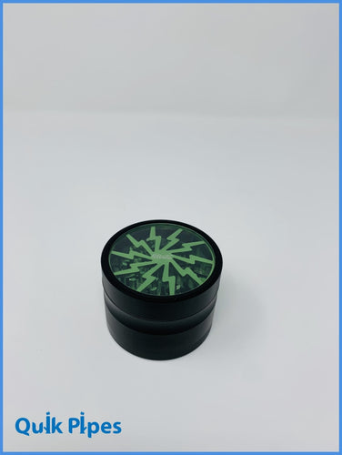 Sharper Grinder Lightening Bolt Green.