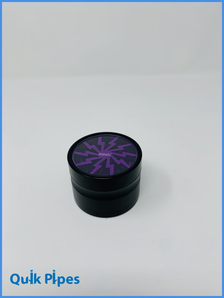 Sharper Grinder Lightening Bolt Purple.