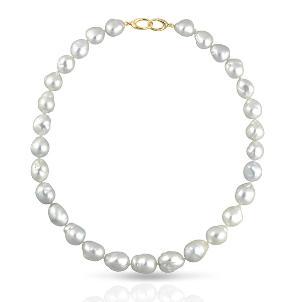 Australian South Sea Pearl Strand Collier Necklace - Baroque 46cm - STNEASSYG001 - NANIHI  TAHITIAN  PEARLS