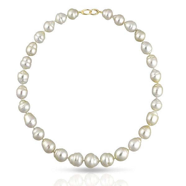 South Sea Strand Collier Necklace - CIRCLED 44cm - STNESSYGCL004 - NANIHI  TAHITIAN  PEARLS
