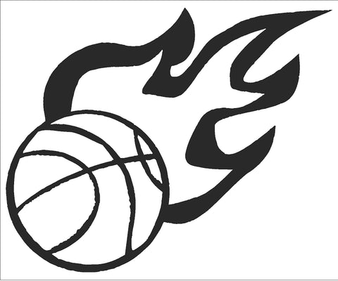 Basketball w/ Flames