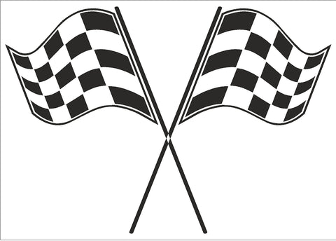 Crossed Racing Flag