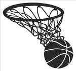 Basketball in Net