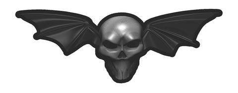 Skull w/ Bat Wings