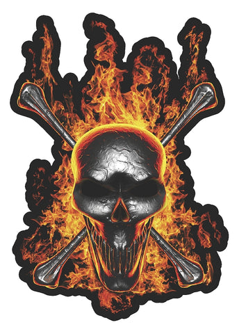 Skull and Crossbones w/ Flames