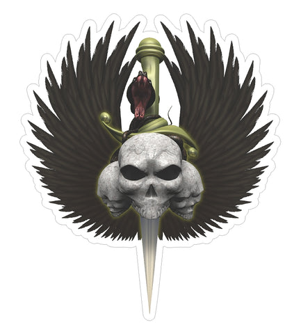 Skull w/ Eagle Wings