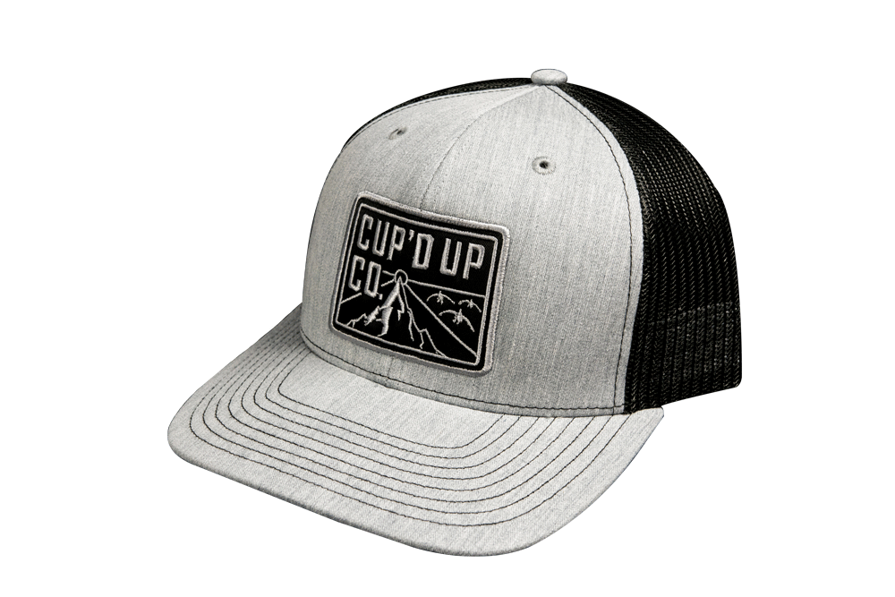 4564969f0 Cup'd Up Co. Heather Gray/ Black Patch Hat