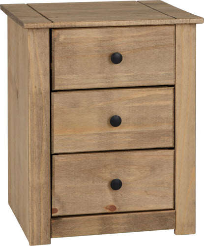 Panama 3 Drawer Bedside