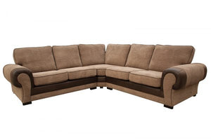 Taylor Beige and Brown Corner Sofa
