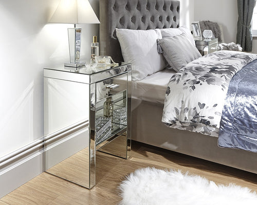 Venta 1 Drawer Mirrored Bedside