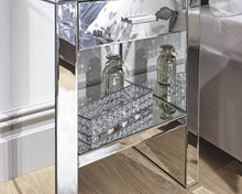 Load image into Gallery viewer, Venta 1 Drawer Mirrored Bedside