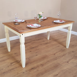 Corona White Dining Table and Chairs