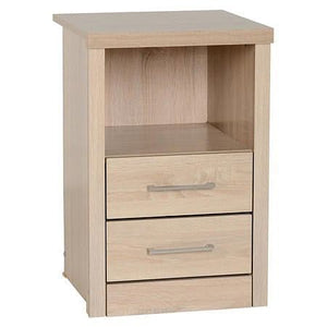 Lisbon Light Oak 2 Drawer Bedside