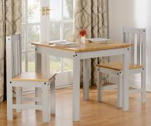 Trudel Grey and Oak 2 Seat Dining Set