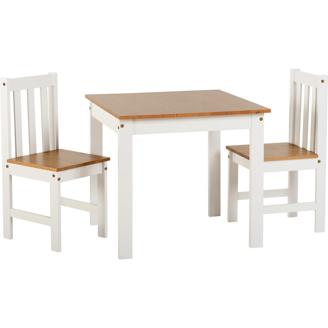 Trudel White and Oak 2 Seater Dining Set