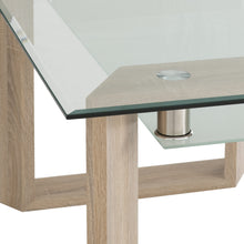 Load image into Gallery viewer, Milan Oak and Glass Dining Table Set