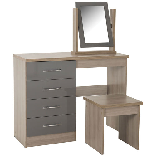 Nevada Grey Gloss Dressing Table Set