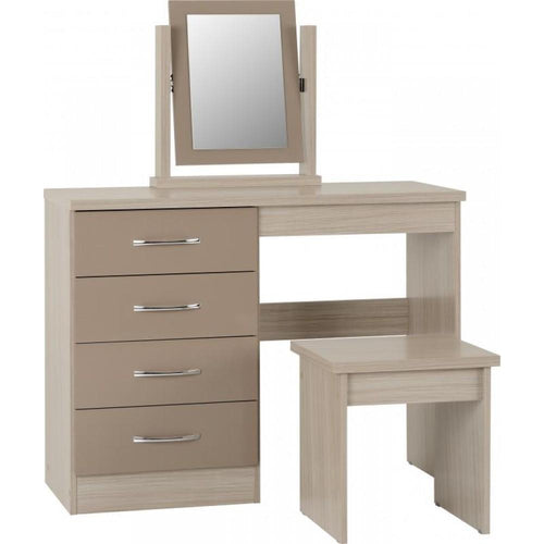 Nevada Oyster Gloss Dressing Table Set