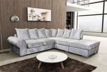 Load image into Gallery viewer, Regal Crushed Velvet Corner Sofa