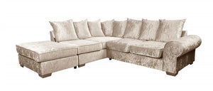 Regal Crushed Velvet Corner Sofa