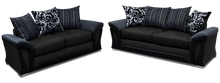 Load image into Gallery viewer, Black 3+2 Sofa Set