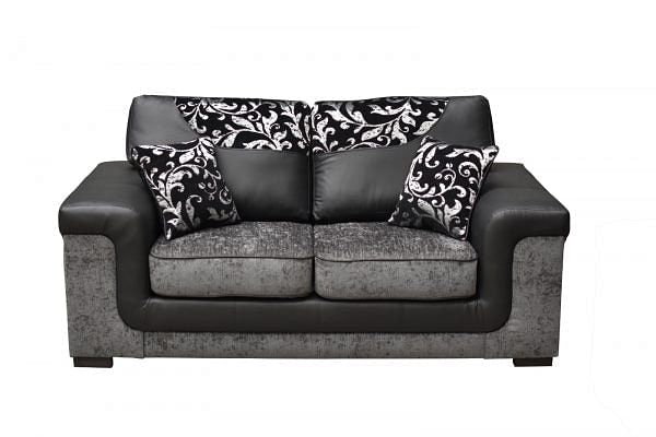 Sienna Black and Grey 2 Seater Sofa