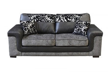 Load image into Gallery viewer, Sienna Grey and Black 3+2 Sofa Set