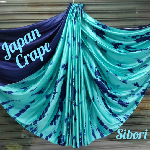 japan crepe multicolor Saree(Full_Blue,Blue)