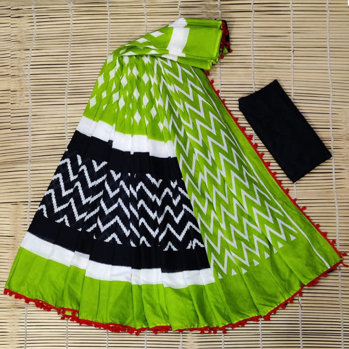 Rich-Look SILK saree(Pink_Red)