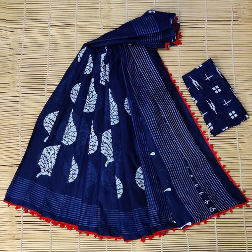 Rich-Look SILK saree(Blue_Skyblue_Peacocok)