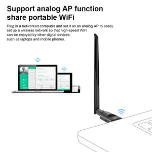 USB WiFi Adapter 1200Mbps TECHKEY USB 3.0 WiFi Dongle 802.11 ac Wireless Network Adapter with Dual Band 2.42GHz/300Mbps 5.8GHz/866Mbps 5dBi High Gain Antenna for Desktop Windows XP/Vista / 7-10 Mac
